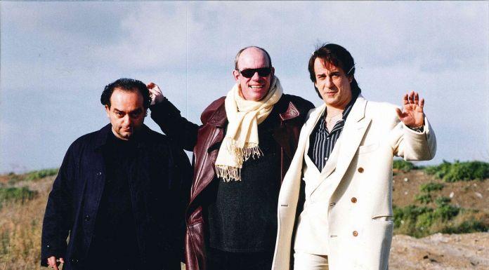 Angelo Curti, Kermit Smith e Toni Servillo sul set dell'Uomo in più, 2001
