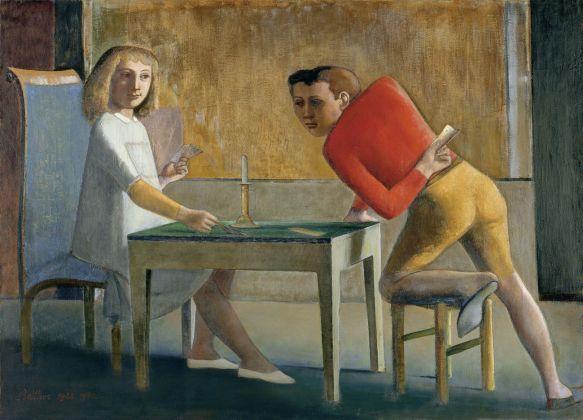 Balthus, La Partie de cartes, 1948-50. Museo Nacional Thyssen-Bornemisza, Madrid © Balthus