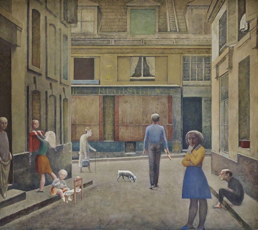Balthus, Passage du Commerce Saint André, 1952 54. Collezione privata, Svizzera. Photo Mark Niedermann © Balthus
