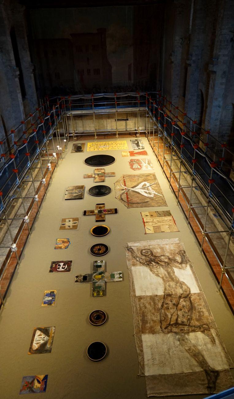 Bruno Ceccobelli, T'odi, 1981 2018. Installation view at Sala delle Pietre, Todi 2018 (c) Auro e Celso Ceccobelli