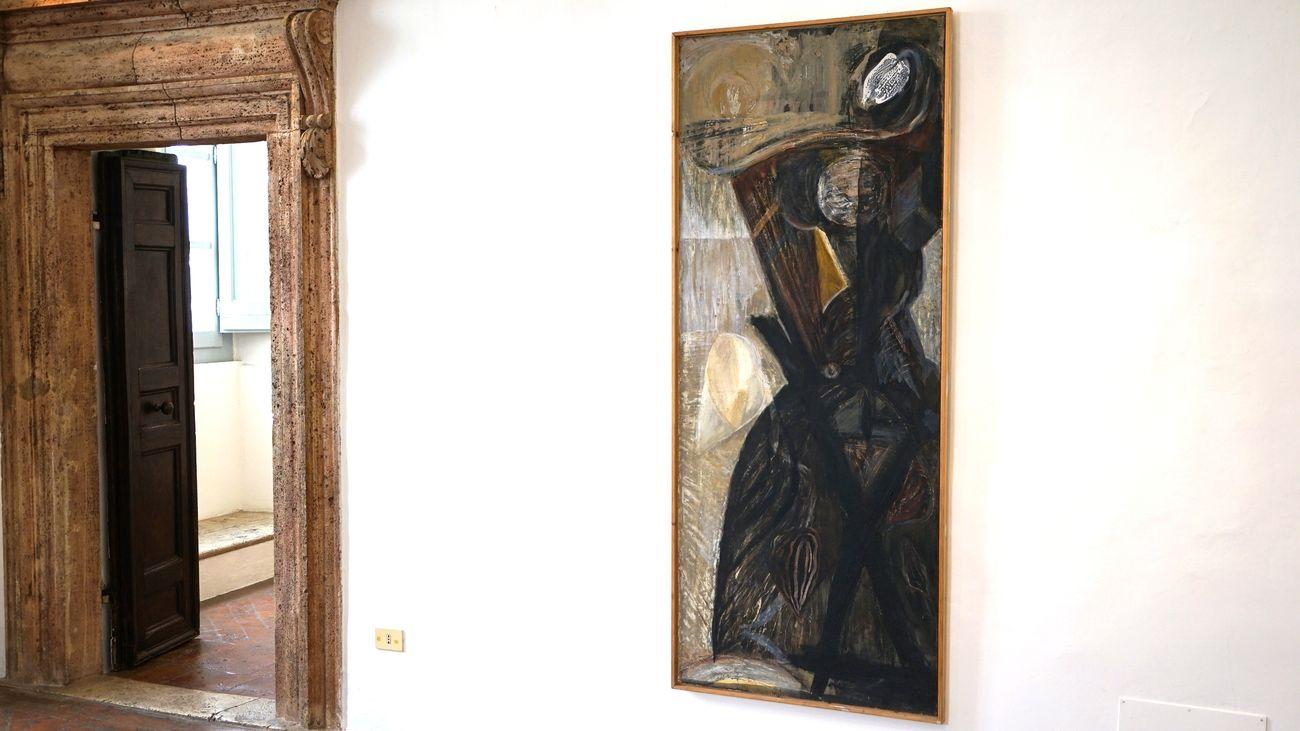 Bruno Ceccobelli. Primo segno, recente sogno. Installation view at Galleria Bibo's Place, Todi 2018 (c) Auro e Celso Ceccobelli