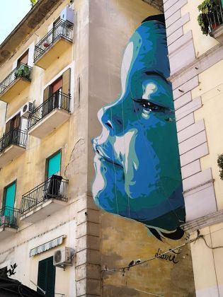 David Diavù Vecchiato, Cucù...Tetè, murale per Urban Neapolis, Piazza Pignasecca, Napoli, 2018