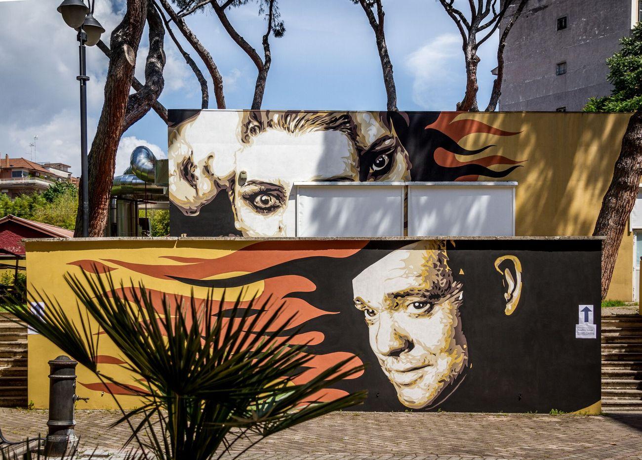 David Diavù Vecchiato, murale all'Università Roma Tre, Roma, 2018. Photo Oscar Giampaoli