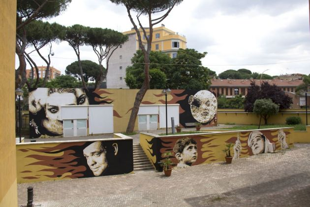 David Diavù Vecchiato, murale all'Università Roma Tre, Roma, 2018. Photo Oscar Giampaoli