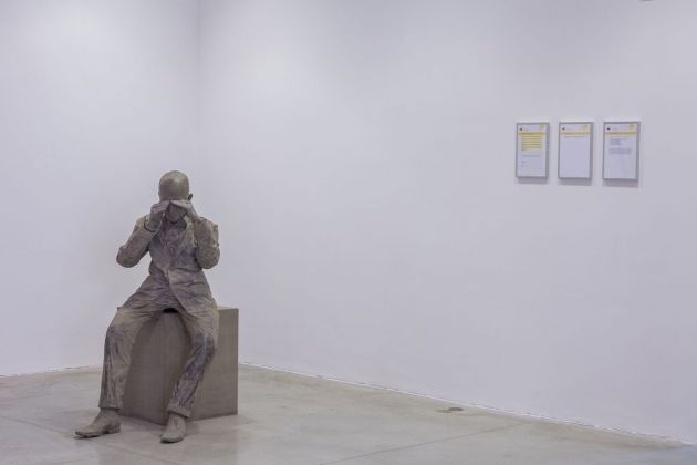 Diego Tonus e Anonimo, A Moment of Darkness, 2018. Courtesy l'artista. Installation view at MAMbo – Museo d'Arte Moderna di Bologna, 2018. Photo E&B Photo
