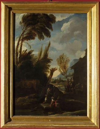 Domenico Fetti, Parabola del tesoro nascosto, 1619-21 ca. Mantova, Complesso Museale Palazzo Ducale, Collezione Romano Freddi