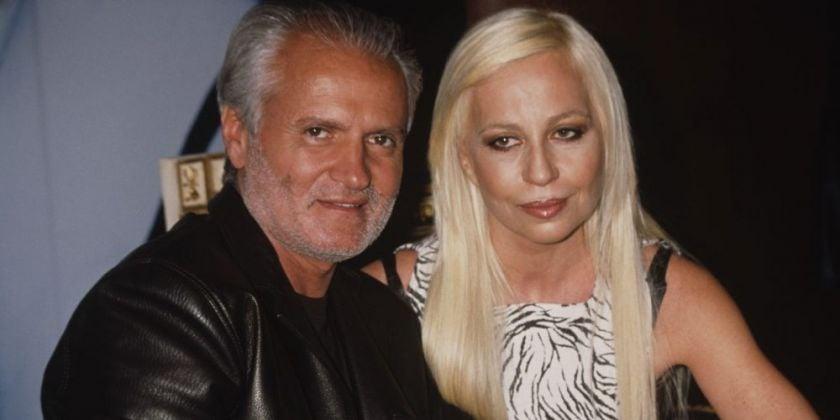 Donatella e Gianni Versace