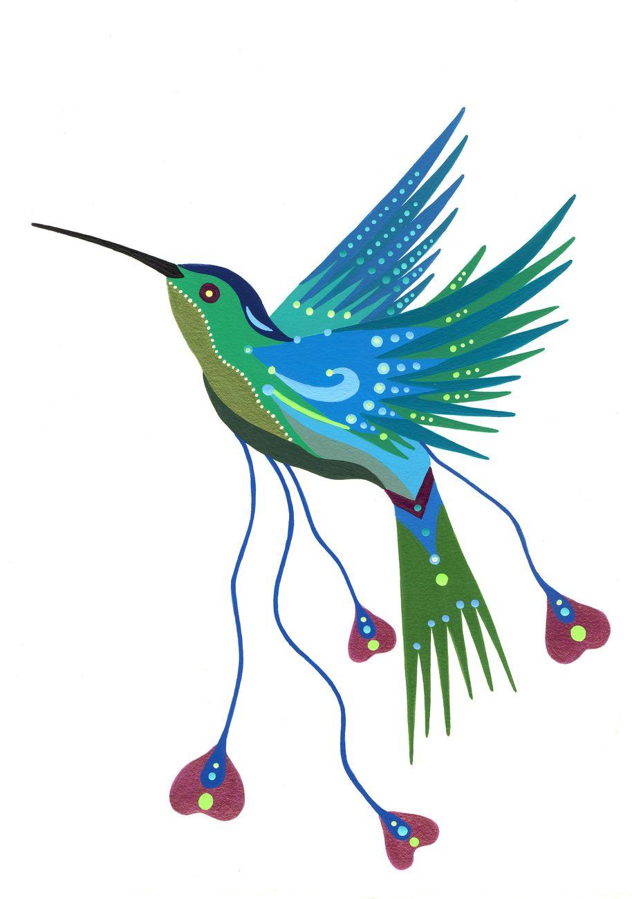 Fulvia Mendini, Il colibrì, 2017