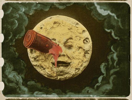 Georges Méliès, Le Voyage dans la Lune (movie), 1902 ©Lobster Fondation Groupmama Gan Fondation Technicolor