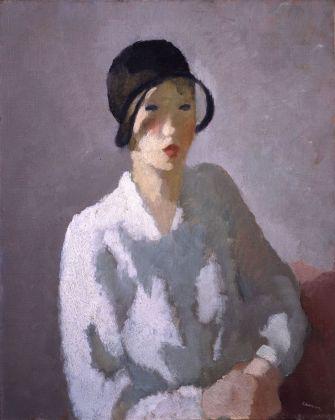 Gigi Chessa, Figura con cappello (Ragazza in bianco), 1930. Firenze, Galleria d'Arte Moderna di Palazzo Pitti