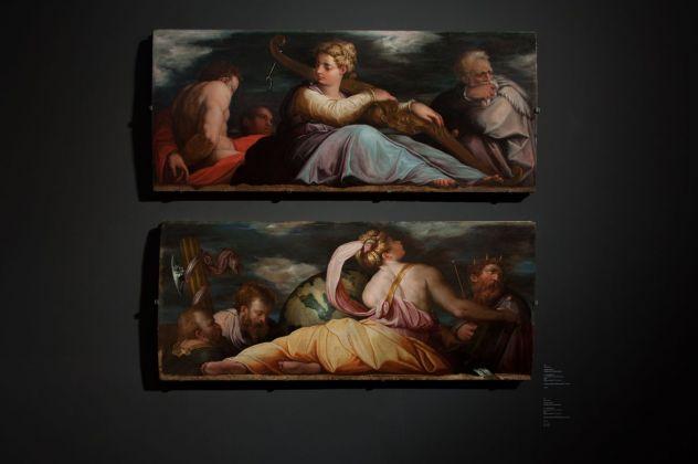 Giorgio Vasari, La Pazienza e La Giustizia, installation view at Gallerie dell'Accademia, Venezia 2018, photo Irene Fanizza