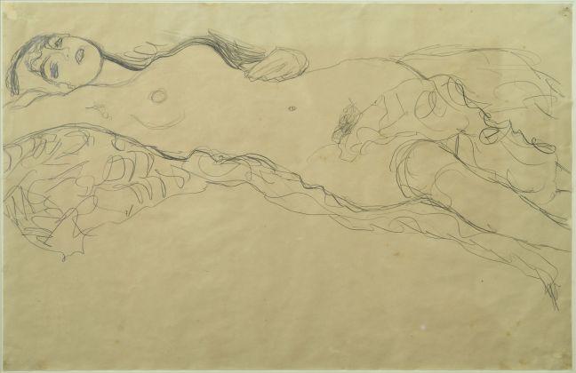 Gustav Klimt (Baumgarten, 1862 Vienna, 1918), Donna distesa, 1914-1915, Matita su carta, 375 x 565 mm, Ravenna, MAR Museo d'Arte della città di Ravenna