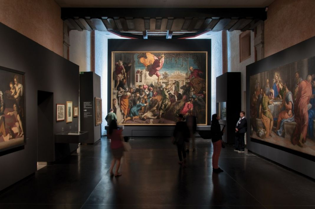 Il Giovane Tintoretto, exhibition view at Gallerie dell'Accademia, Venezia 2018, photo Irene Fanizza