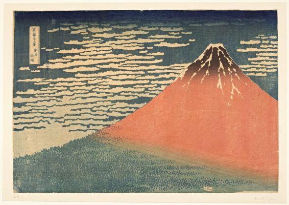 Katsushika Hokusai, Vento da sud nel mattino chiaro, 1831. Paris, Musée Guimet