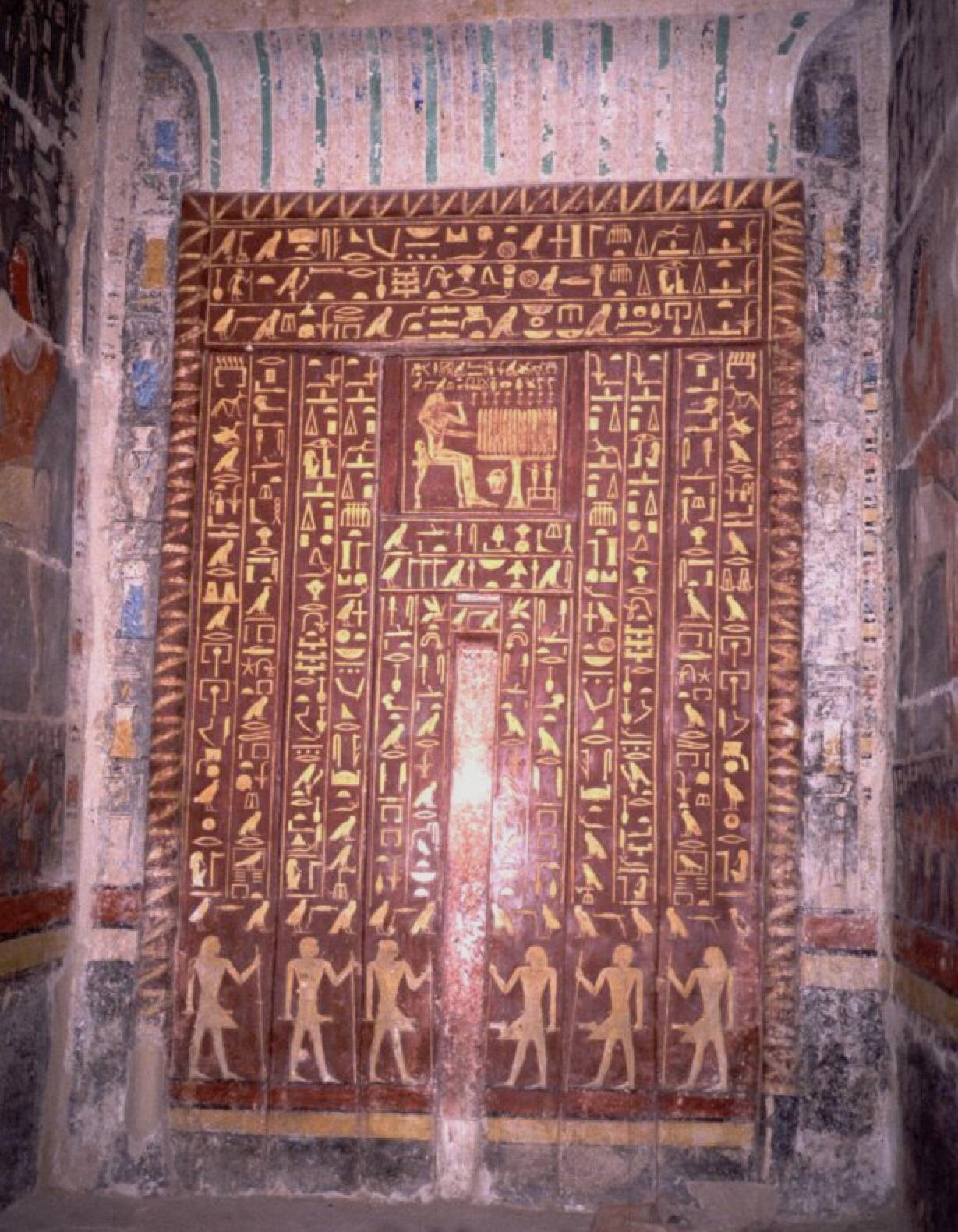 La tomba di Mehu, falsa porta dorata