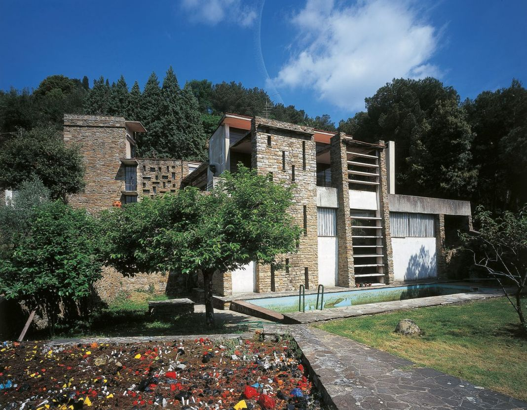 Leonardo Ricci, Casa studio Ricci, Monterinaldi 1950-51. Photo Vaclav Sedy