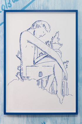 Luís Lázaro Matos. Tomber Dans Le Lac. Exhibition view at Galeria Madragoa, Lisbona 2018