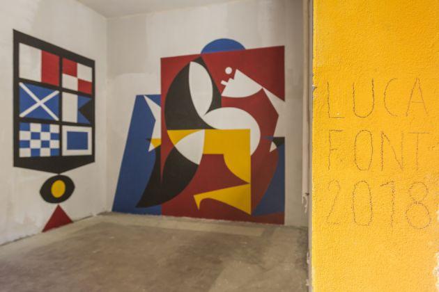 Luca Font, FestiWall 2018, vista della mostra, foto di Marcello Bocchieri