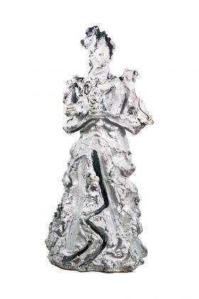 Lucio Fontana, La donna e la colomba [Dama bianca], 1953. Collezione Comune di Albissola Marina. Photo Gianluca Anselmo