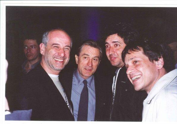 L'uomo in più al Tribeca Film Festival 2002. Toni Servillo, Robert De Niro, Paolo Sorrentino, Roberto De Francesco