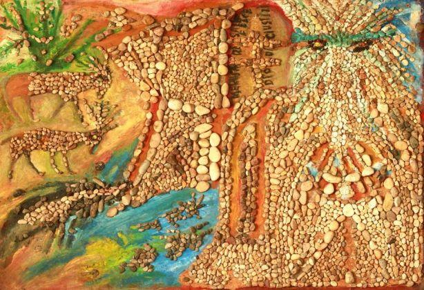 Bonaria Manca, MELCHISEDEK, RE DI PACE E DI GIUSTIZIA, Anni '90, mosaico. Collezione privata dell'artista. Ph. Paola Manca
