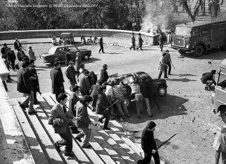 Marcello Geppetti, Dimostrazioni a Valle Giulia, 1° marzo 1968 © MGMC dolceVita Gallery
