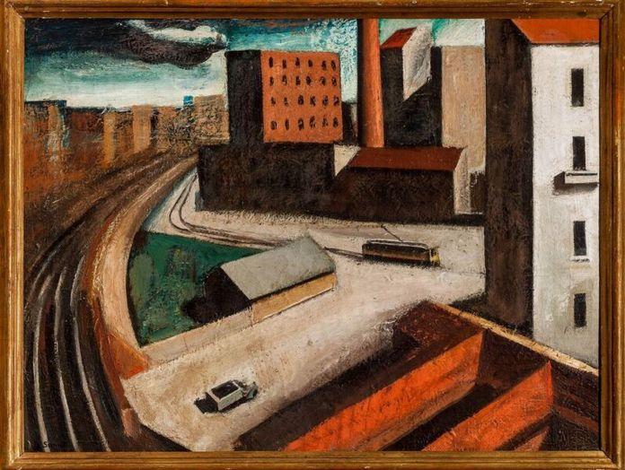 Mario Sironi, Periferia, 1921. Collezione privata. Photo Umberto Ferri, IUAV