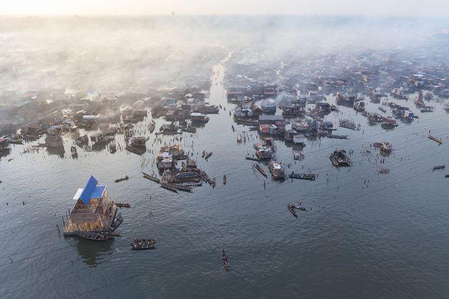 NLÉ, Makoko Floating School, Lagos. Photo Iwan Baan