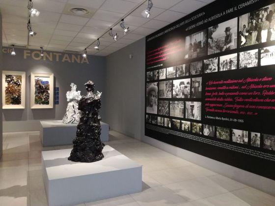 Nascita della materia. Lucio Fontana e Albisola. Exhibition view at Centro Esposizioni MuDA, Albisola Marina 2018