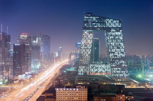 OMA, CCTV Tower, Pechino. Photo Iwan Baan
