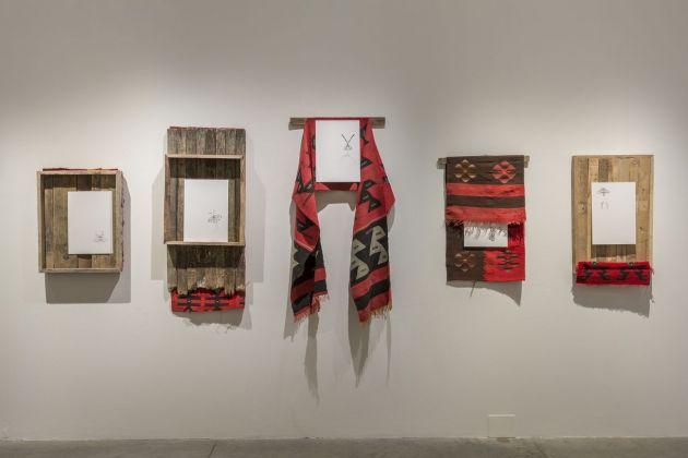 Petrit Halilaj, Moth # 11, 12, 13, 14, 15, 2017. Courtesy l'artista e ChertLüdde, Berlino. Installation view at MAMbo – Museo d'Arte Moderna di Bologna, 2018. Photo E&B Photo