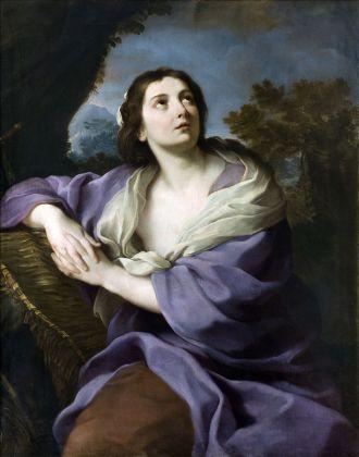 Pittore romano, Maddalena in estasi, 1730-1750, Olio su tela, 115 x 95 cm, Milano, Collezione privata