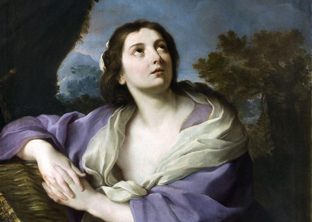 Pittore romano, Maddalena in estasi, 1730-1750, Olio su tela, 115 x 95 cm, Milano, Collezione privata, dettaglio