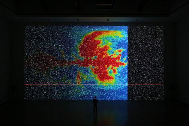 Ryoji Ikeda. Eye Filmmuseum, Amsterdam 2018. Courtesy of Shanghai 21st Century Minsheng Museum
