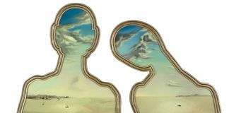 Salvador Dalí, Couple aux têtes pleines de nuages, 1936, Museum Boijmans Van Beuningen, Rotterdam, photo Studio Tromp, Rotterdam © Salvador Dalí, Fundación Gala-Salvador Dalí, c/o Pictoright Amsterdam 2017