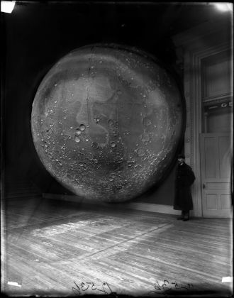 Scientific Moon model prepared by Johann Friedrich Julius Schmidt and Thomas Dickert, Germany 1898. Photo Field Museum Library Getty Images