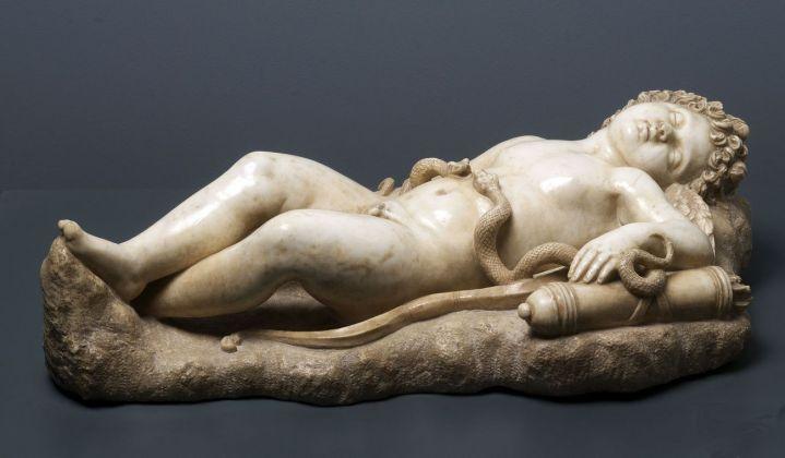 Scultore del XVI secolo, Cupido dormiente, seconda metà del XVI secolo. Mantova, Museo della città Palazzo San Sebastiano