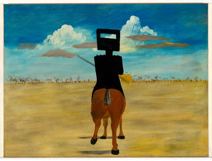 Sidney Nolan, Ned Kelly, 1946. National Gallery of Australia, Canberra