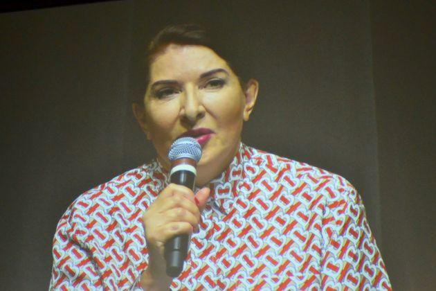 Talk di Marina Abramović a Firenze, 2018