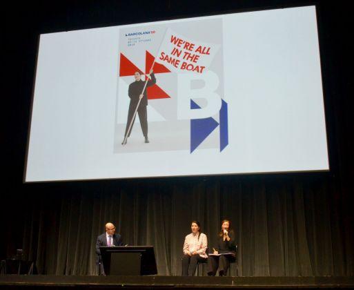 Talk di Marina Abramović a Firenze, 2018. Su We're all in the same boat