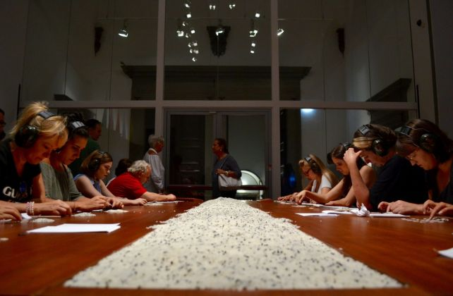 The Abramovic Method. Performance at Palazzo Strozzi, Firenze 2018