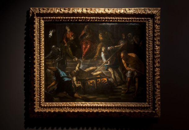 Tintoretto, Martirio di San Lorenzo, 1575 circa, installation view at Palazzo Ducale, Venezia 2018, photo Irene Fanizza