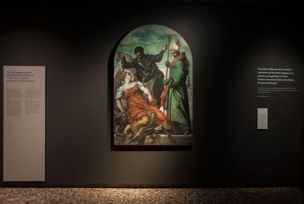 Tintoretto, San Giorgio, San luigi e la principessa, 1552, installation view at Palazzo Ducale, Venezia 2018, photo Irene Fanizza