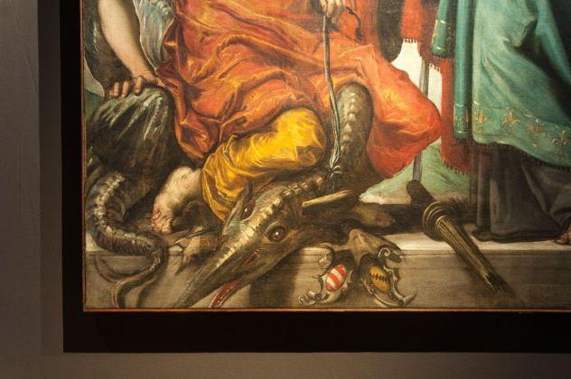 Tintoretto, San Giorgio, San luigi e la principessa (dettaglio), 1552, installation view at Palazzo Ducale, Venezia 2018, photo Irene Fanizza