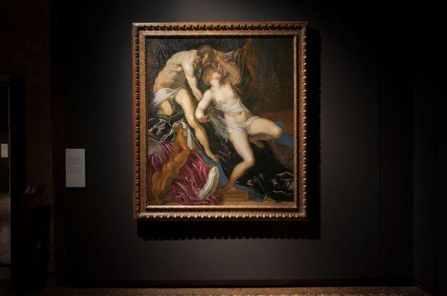 Tintoretto, Tarquinio e Lucrezia, 1578-1580, installation view at Palazzo Ducale, Venezia 2018, photo Irene Fanizza