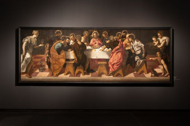 Tintoretto, Ultima Cena, 1547, installation view at Gallerie dell'Accademia, Venezia 2018, photo Irene Fanizza