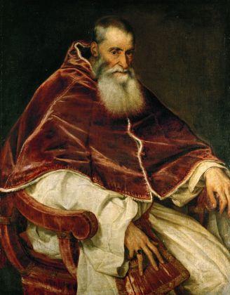 Tiziano Vecellio, Ritratto di papa Paolo III, 1543. Museo nazionale di Capodimonte, Napoli