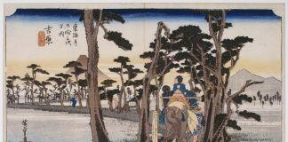 Utagawa Hiroshige, Il Monte Fuji visto da Yoshiwara, 1833-34. Paris, Musée Guimet