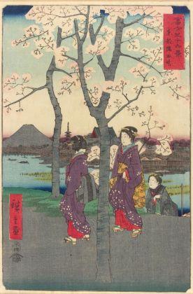 Utagawa Hiroshige, Le sponde della Sumida a Edo, 1858. Louvre Abu Dhabi