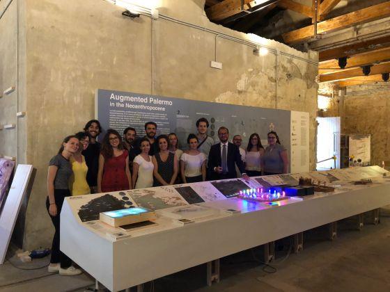 Manifesta 12 Studios, ex Mulino di Sant'Antonino, Palermo. Gli studenti dell'Università di Palermo con il prof. Maurizio Carta